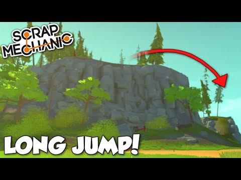 LONG JUMP CHALLENGE! - Scrap Mechanic Multiplayer Terrain Update Gameplay!