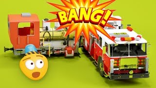 fire brigade   fire trucks for children   street vehicles for children   car videos for kids