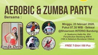 Aerobic & Zumba Party @interio Home Furnishings Bandung #eventbandung #bandunghits #interiobandung