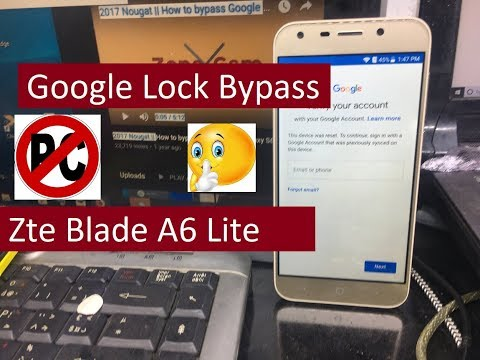 new method 2019 3 Avril Zte Blade A6 Lite Google Lock Bypass Android 7.0.0