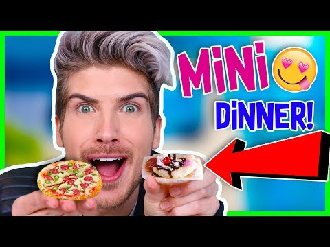 Download Youtube: I MADE MYSELF A TINY DINNER!