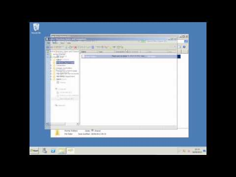 Configuring User Home Folders - Windows 2008 R2