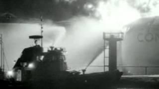 1974: 100 jaar Brandweer Amsterdam en de grote uitslaande branden, met brand C&A - oude filmbeelden