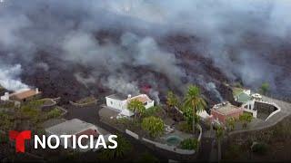 EN VIVO: La lava del volcán que hizo erupción en España arrasa decenas de estructuras