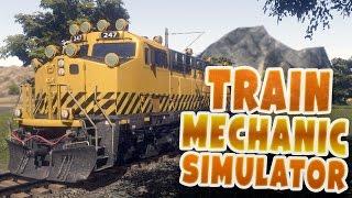 Train Mechanic Simulator 2017 - Driving, Repairing and Towing Trains - Train Mechanic Gameplay