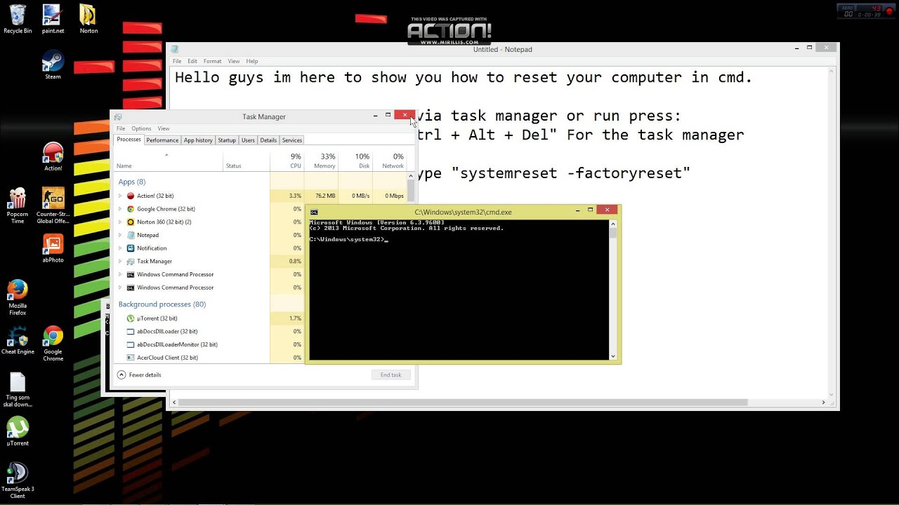 How To Factory Reset Any Computer Using Command Promt ...