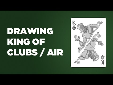 Drawing The King Of Clubs aka King Of Air for Line's Deck Of Elements Cards