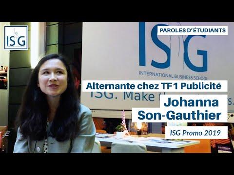 3 questions à Johanna Son Gauthier (ISG Promo 2019) - Alternante chez TF1 Publicité