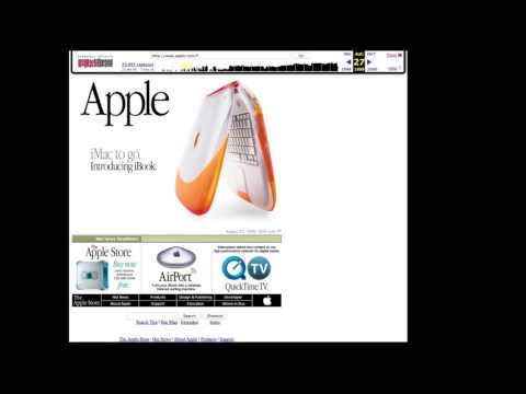 NMDC - New Media Research Methods - Assignment 2 - Hello Again: A web history on  Apple.com
