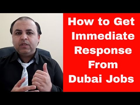 How to Get Immediate Response From Dubai Companies for available Vacancies  || Jobs in Dubai