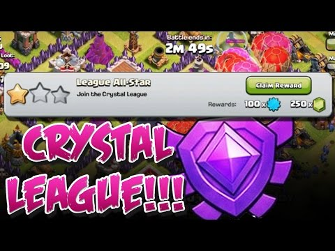CRYSTAL LEAGUE!! | Clash of Clans | MAX TH8 HERE WE COME
