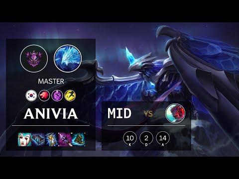 Anivia Mid vs Yone - KR Master Patch 10.22