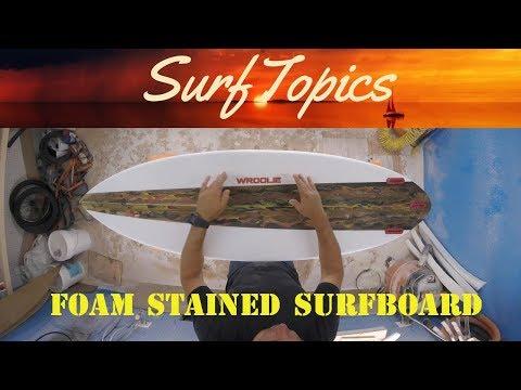 Foam Stained Surfboard