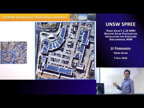 UNSW SPREE 201604-07 JJ Ferrandis - Todae Solar's 1.22 MWp Rooftop Solar Photovoltaic Installation