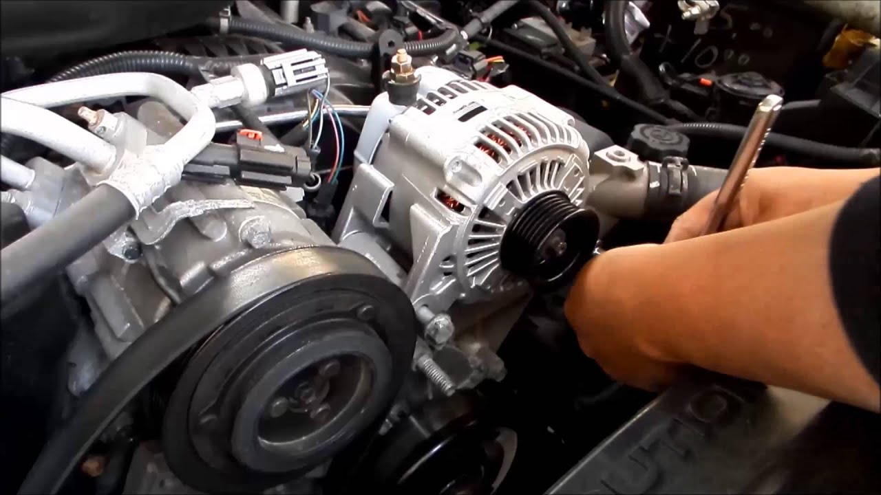 Remove Install Alternator Jeep Liberty 2007 Serpentine Belt