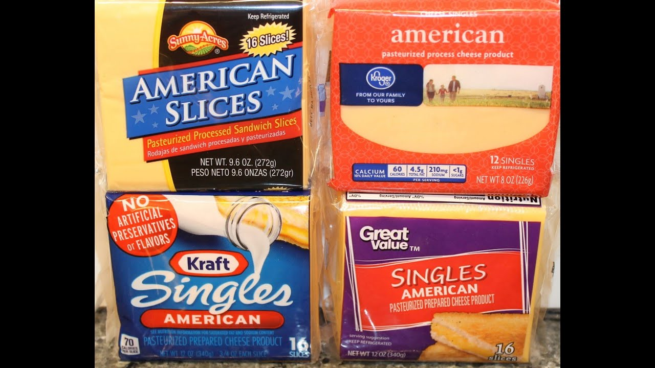 Sliced American Cheese Blind Taste Test: Kraft, Kroger, Sunny Acres & Great  Value