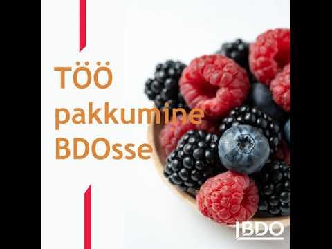 BDO Eesti töökuulutus finantsauditi projektide juhile
