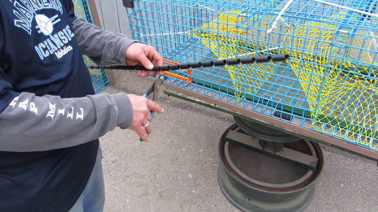DIY Cutting Plastic Edge Protectors to Fit Lobster Trap - YouTube