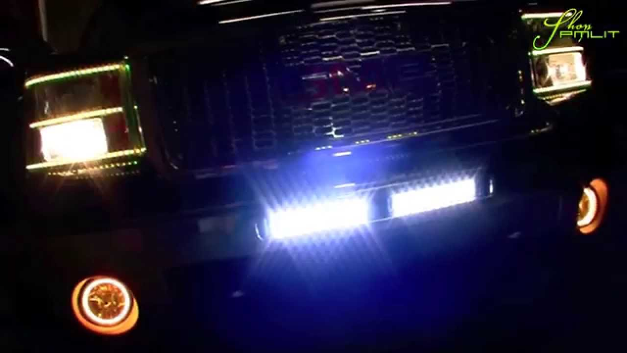 ORACLE GMC Sierra ColorSHIFT LED Lights and Light Bars by ShopPMLIT.com - YouTube & ORACLE GMC Sierra ColorSHIFT LED Lights and Light Bars by ShopPMLIT ...