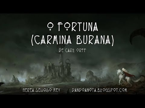 O fortuna (Carmina Burana) de Carl Orff - Flauta dulce (La, Sol, Fa, Mi y Re).