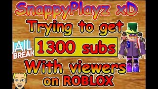 ROBLOX JailBreak Getting 1300 Subscribers ON STREAM?!? (+ New Secret Jailbreak Update) | 🔴 LIVE