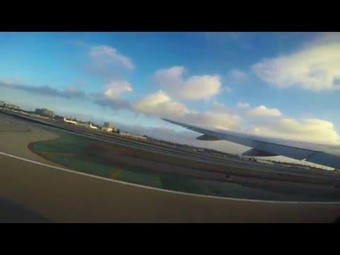 Avião decolando em Los Angeles - Take off