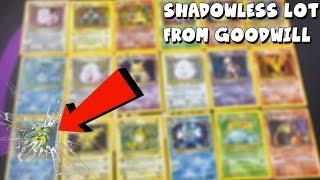 ORIGINAL 1999 BASE SET SHADOWLESS LOT!? | Opening Random Goodwill Pokemon Card Lots #2