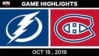 Nhl Highlights Lightning Vs Canadiens Oct 15 2019 Youtube
