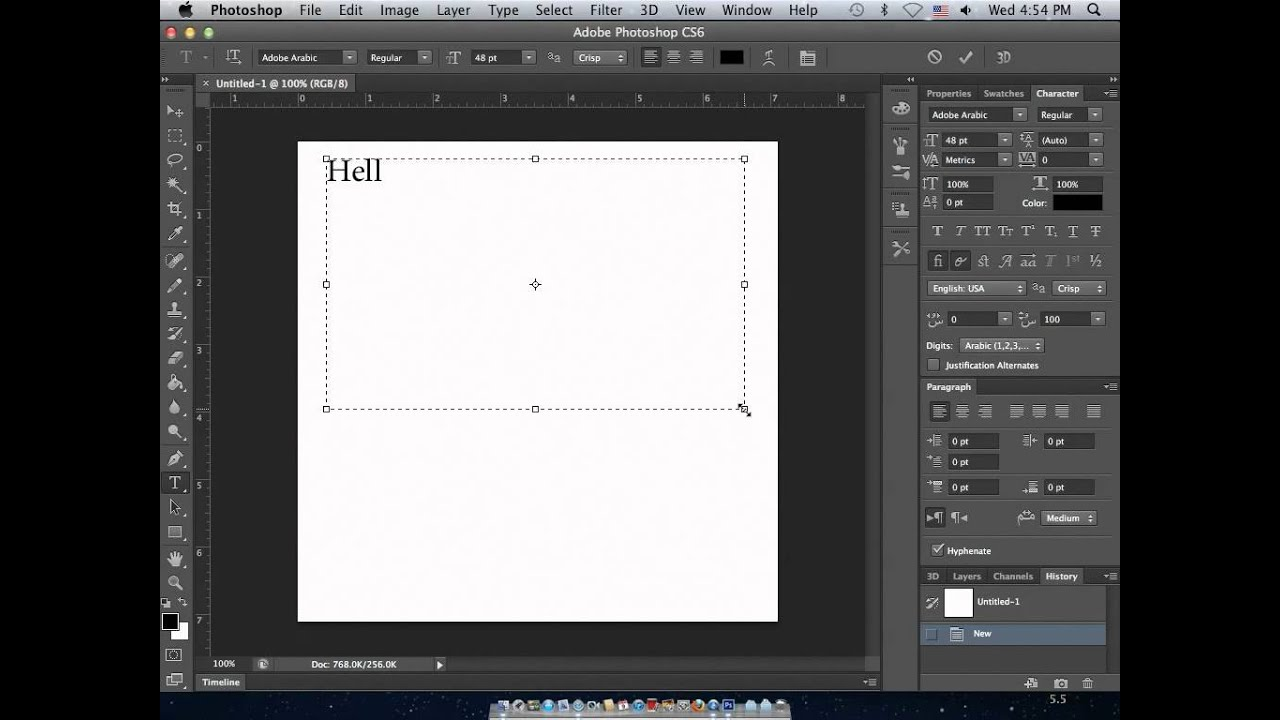 Arabic and Hebrew type in Photoshop