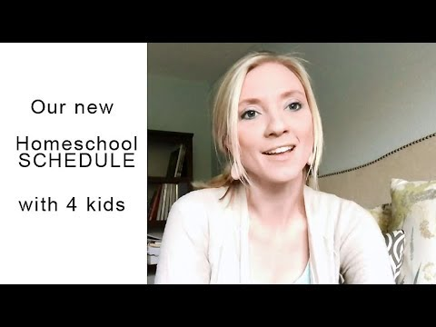Our Homeschool SCHEDULE with 4 Kids {NEW 2017/2018}