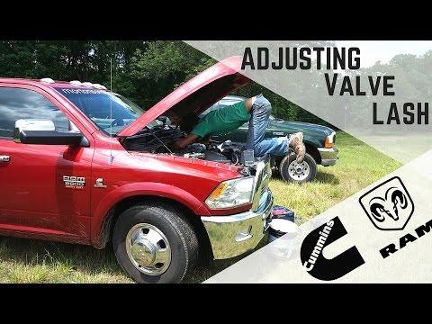 Adjusting the Valve Lash on our Cummins 6.7 Diesel Engine