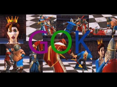 BATTLE CHESS GOK RED VS BLUE movie HD(world's longest battle chess video with ALL fatality moments)