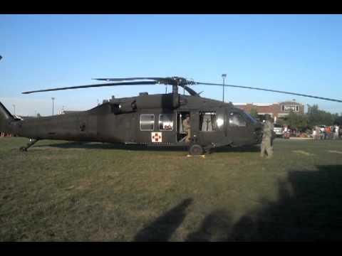 Black hawk Helicopter takeoff