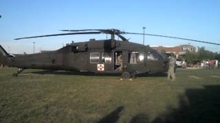 Black hawk Helicopter takeoff