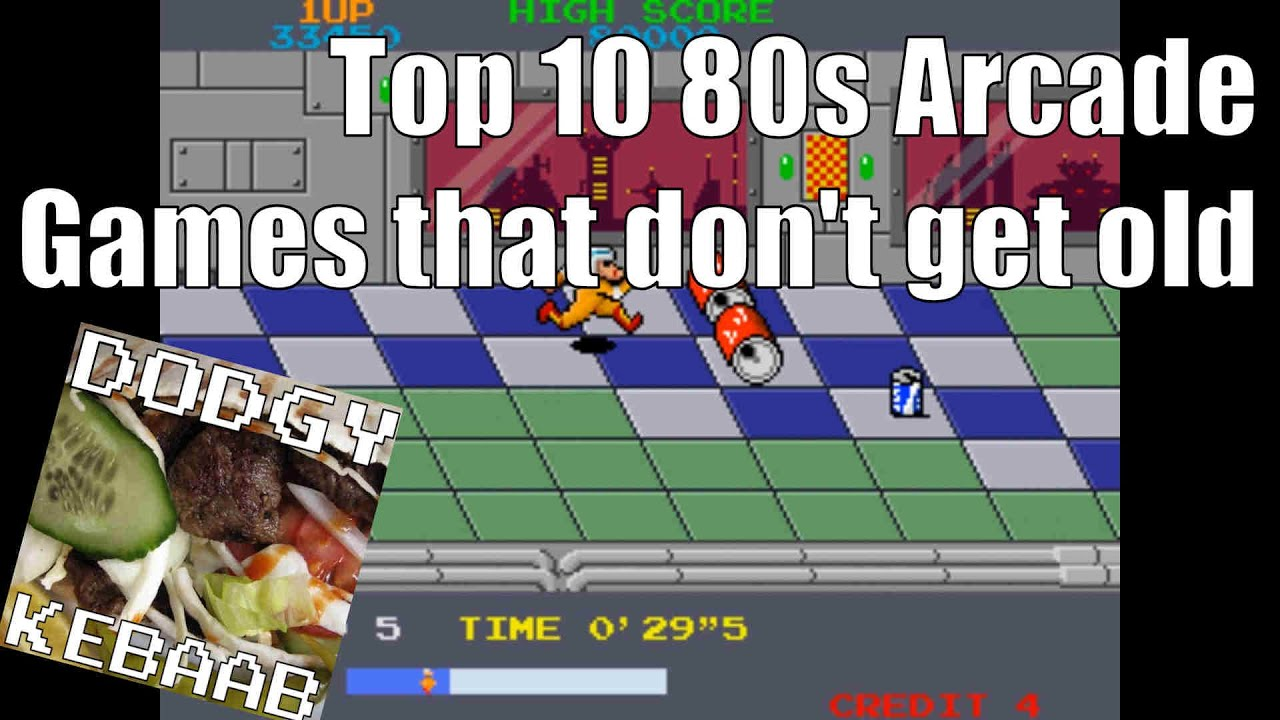 Top 10 Arcade Games Of The 1980s - YouTube