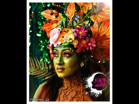 GAIA ( Green Goddess of Mother Earth )  - NYX FACE AWARDS INDIA 2017 - Entry