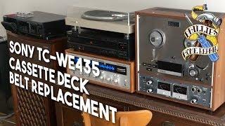 Sony TC-WE435 Cassette Deck Belt Replacement