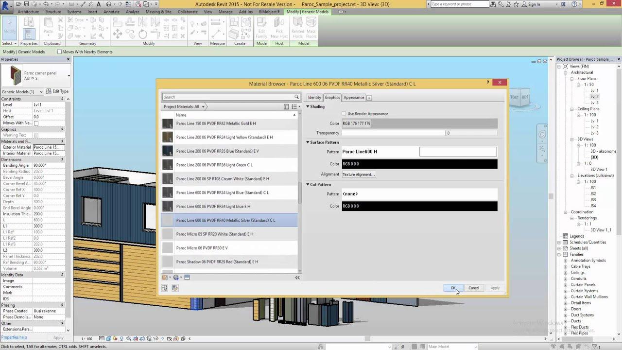 BIMobject® Paroc Panel Add-in for Revit - Introduction