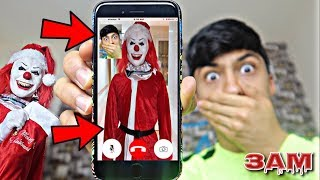 DO NOT FACETIME SANTA CLAUS AT 3AM!! *OMG HE CAME TO MY HOUSE*