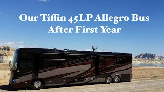 First Year In Living In Our Tiffin 45LP Allegro Bus