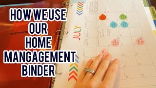 Household Management binder