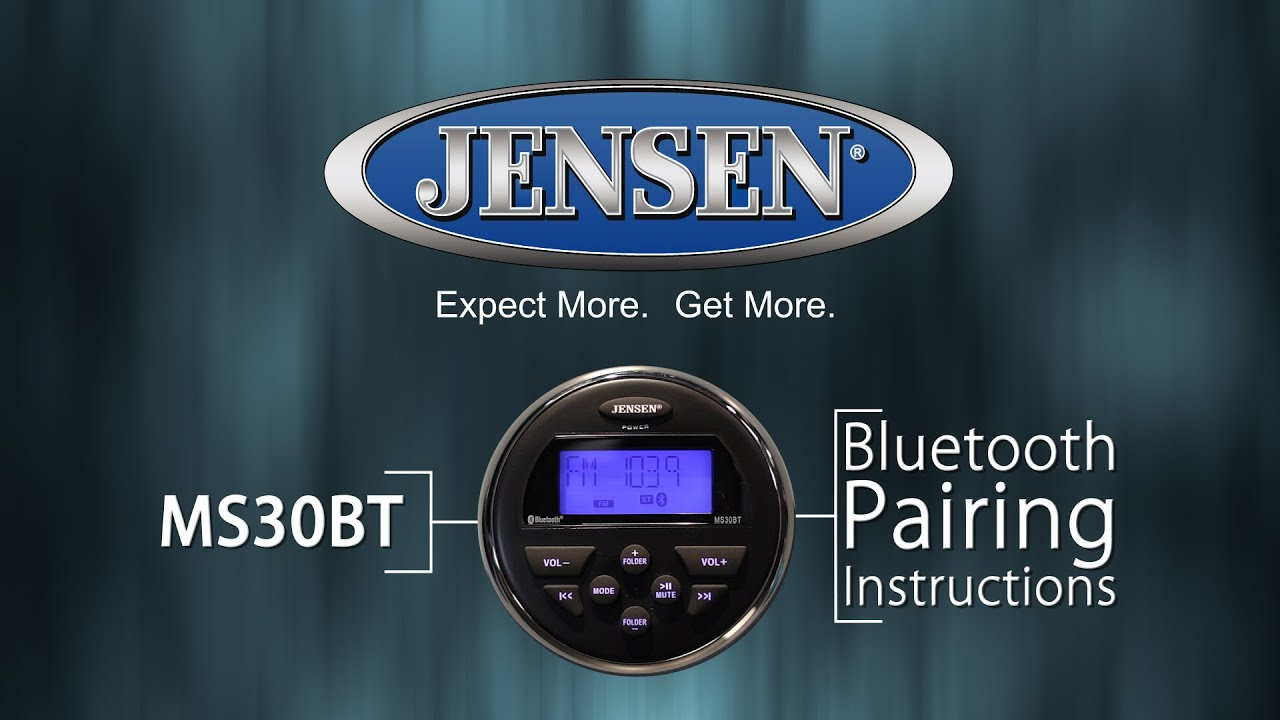 Jensen marine ms30bt bluetooth pairing instructions youtube sciox Choice Image