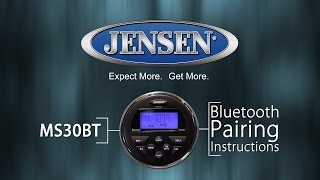 JENSEN Marine | MS30BT Bluetooth® Pairing Instructions