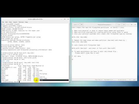 Create Vfat And Ext4 Filesystem Types On Linux Machines CentOS Red Hat (uzbek)