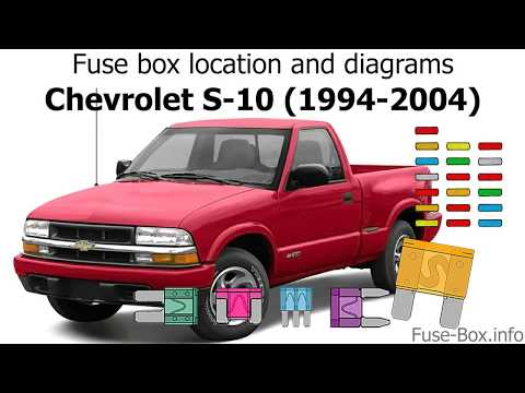 Fuse Box Location And Diagrams: Chevrolet S-10 (1994-2004)