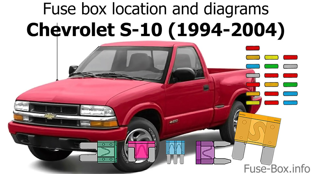 fuse box location and diagrams: chevrolet s-10 (1994-2004) - youtube  youtube