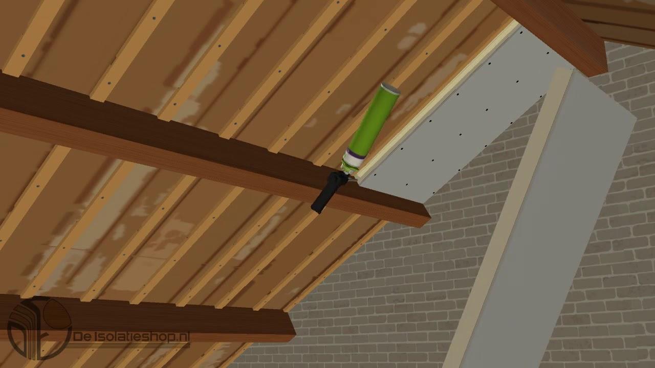 hoe isoleer ik een zolder of wand met pir fermacell platen van de isolatieshop youtube. Black Bedroom Furniture Sets. Home Design Ideas