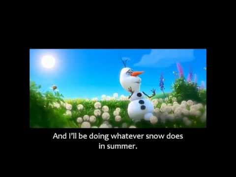 FROZEN - In Summer Olafs song - Official Disney (3D Movie Clip)  - Sing Along Words