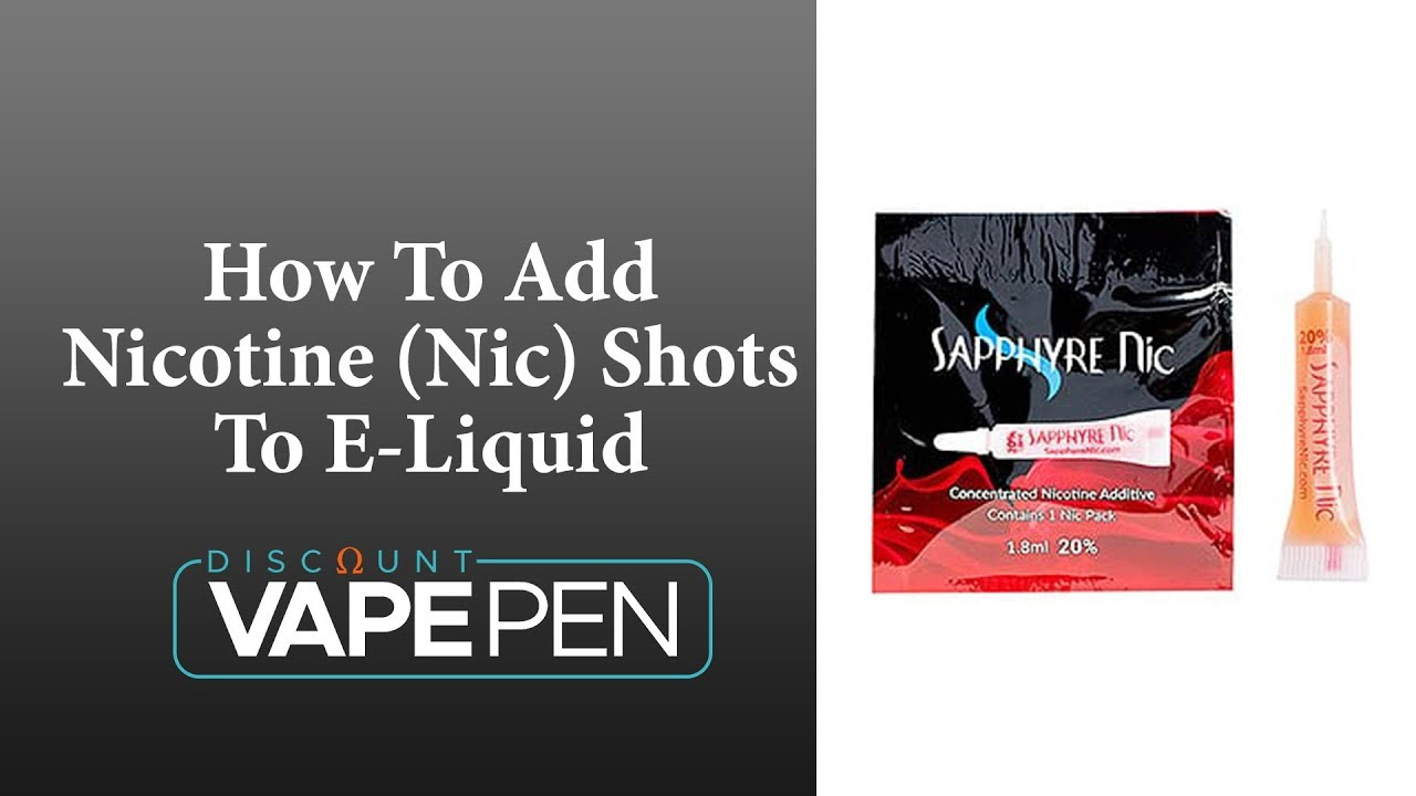 How To Add Nicotine (Nic) Shots To Your E-Liquid - Sapphyre Nic Pack