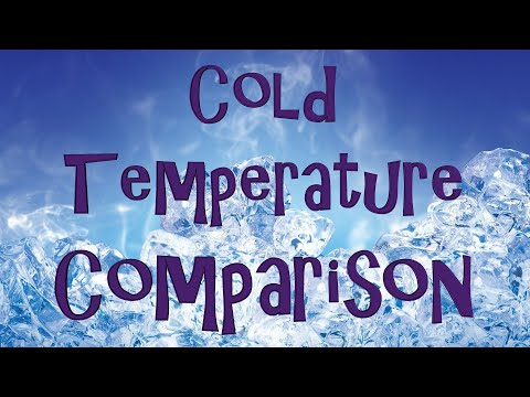 Cold Temperature Comparison (part 1 of 3)